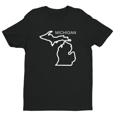 Michigan Outline - Short sleeve men's t-shirt