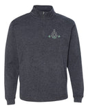 Yoga Balanced & Centered - Cosmic Fleece Quarter-Zip Pullover Sweatshirt