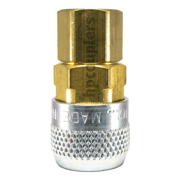 "Foster 210-3003, Aro 210 Series, Coupler, Automatic, 1/4"" Female NPT, Brass, Steel"