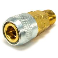 "Foster 210-3303, Aro 210 Series, Coupler, Automatic, 3/8"" Male NPT, Brass, Steel"