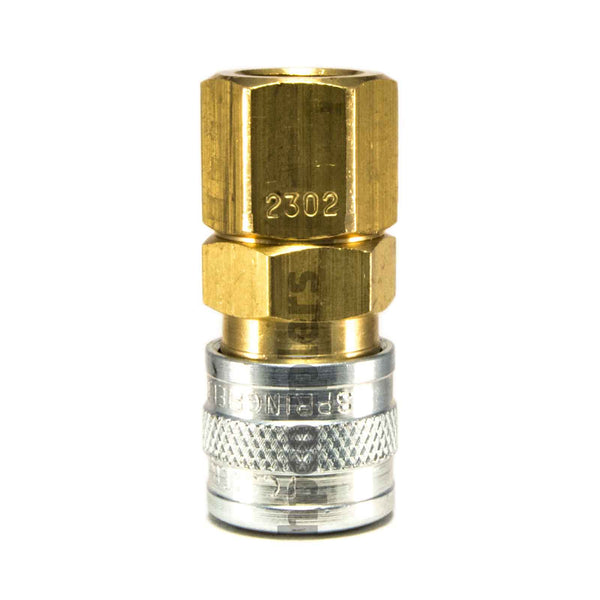 "Foster 2302, 2 Series, Industrial Coupler, Manual, 1/8"" Female NPT, Brass, Steel"