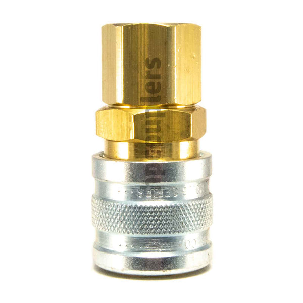 "Foster 3003, 3 Series, Industrial Coupler, Manual, 1/4"" Female NPT, Brass, Steel"