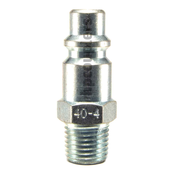 "Foster 40-4, 4 Series, Industrial Plug, 1/4"" Male NPT, Steel"