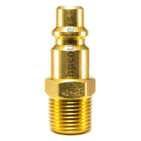 "Foster 42-4B, 4 Series, Industrial Plug, 3/8"" Male NPT, Brass"