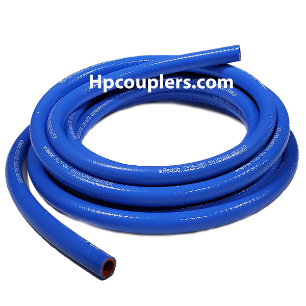"Flexfab 5526-025, 1/4"" x 1 ft (Choose Your Length) Blue Silicone Heater Hose, .25"""