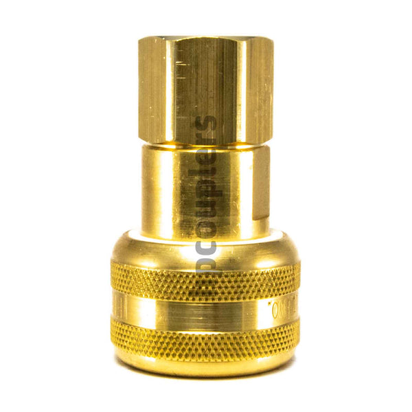 "Foster FM3003, 3 Series, Industrial Coupler, Automatic, 1/4"" Female NPT, Brass"