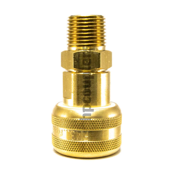 "Foster FM3303, 3 Series, Industrial Coupler, Automatic, 3/8"" Male NPT, Brass"