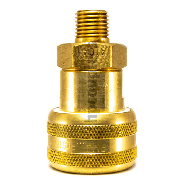 "Foster FM4104, 4 Series, Industrial Coupler, Automatic, 1/4"" Male NPT, Brass"