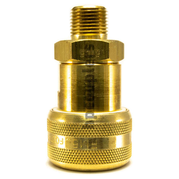 "Foster FM5105, 5 Series, Industrial Coupler, Automatic, 3/8"" Male NPT, Brass"