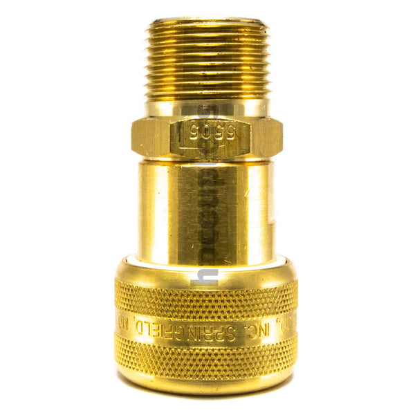 "Foster FM5505, 5 Series, Industrial Coupler, Automatic, 3/4"" Male NPT, Brass"