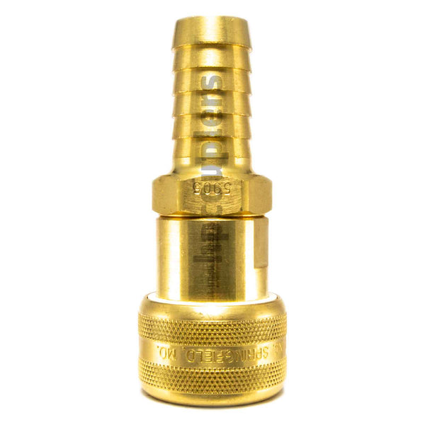 "Foster FM5905, 5 Series, Industrial Coupler, Automatic, 3/4"" Hose Barb, Brass"