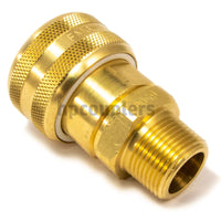 "Foster FM6506, 6 Series, Industrial Coupler, Automatic, 3/4"" Male NPT, Brass"