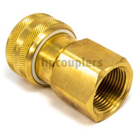 "Foster FM6606, 6 Series, Industrial Coupler, Automatic, 1"" Female NPT, Brass"