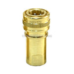 "Foster H2B, FHK Series, ISO B,  1/4"" Two Way Shut-off, Coupler, Brass"