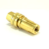 "Foster H2B K2B, FHK Series, ISO B,  1/4"" Two Way Shut-off, Coupler and Plug Set, Brass"