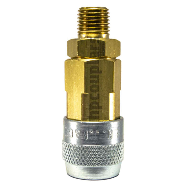 "Foster LN3103, LN Series, Lincoln Coupler, Automatic 1/4"" Male NPT, Brass, Steel"