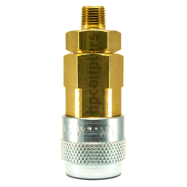 "Foster LN2903, LN Series, Lincoln Coupler, Automatic 1/8"" Male NPT, Brass, Steel"