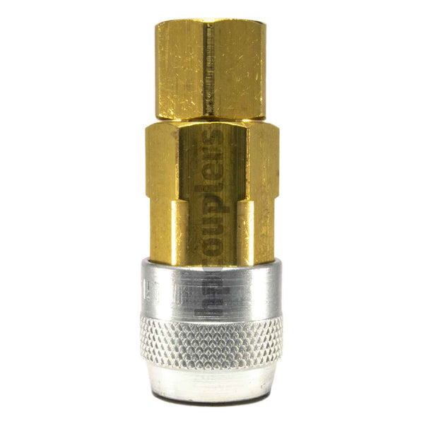 "Foster LN3003, LN Series, Lincoln Coupler, Automatic 1/4"" Female NPT, Brass, Steel"