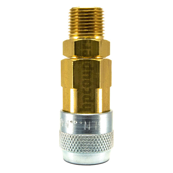 "Foster LN3303, LN Series, Lincoln Coupler, Automatic 3/8"" Male NPT, Brass, Steel"
