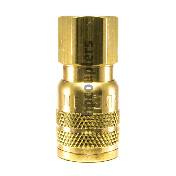 "Foster SG3003, 3 Series, Industrial Coupler, Manual, Sleeve Guard, 1/4"" Female NPT, Brass"