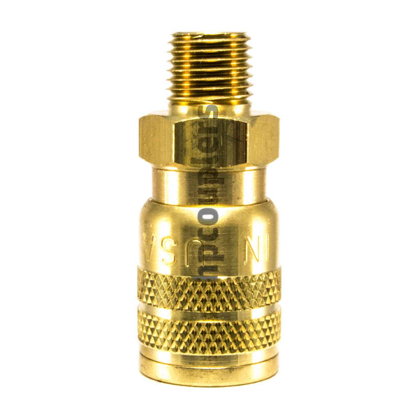 "Foster SG3103, 3 Series, Industrial Coupler, Manual, Sleeve Guard, 1/4"" Male NPT, Brass"