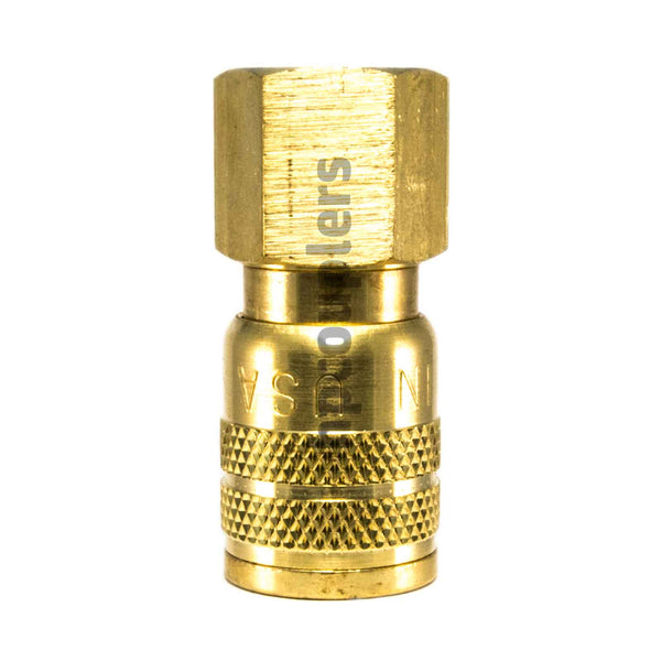 "Foster SG3203, 3 Series, Industrial Coupler, Manual, Sleeve Guard, 3/8"" Female NPT, Brass"