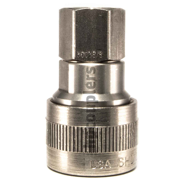 "Foster SHD3003S/S, SHD Series, Schrader Coupler, Automatic 1/4"" Female NPT, Stainless Steel"