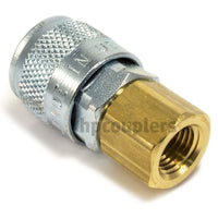 "Foster TF3003, TF Series, True-Flate, Automotive, Coupler, Automatic, 1/4"" Female NPT, Brass, Steel"