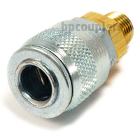 "Foster TF3103, TF Series, True-Flate, Automotive, Coupler, Automatic, 1/4"" Male NPT, Brass, Steel"