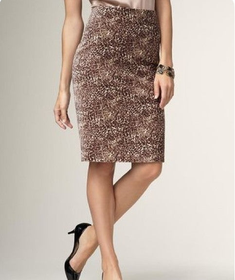 AUCTION ITEM Talbots Leopard Print Velveteen Pencil Skirt NWOT Size 20WP