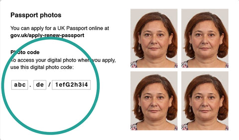 Passport Photo with online verification code