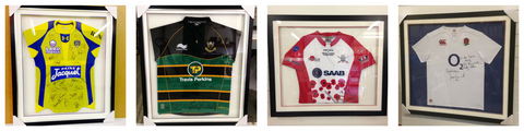 Rugby Shirt Framing Bespoke framing