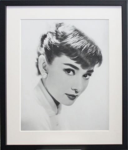Framed Audrey Hepburn, 1955 Screen Print
