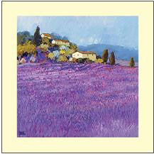 Wild Lavender Provence - Mounted Art Print