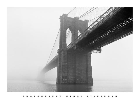 Brooklyn Bridge Fog Art Print Wallart Picture - Custom Framing, Art Prints, Framed Pictures, Ready Made Frames Artists Materials & more - Art Prints - art@home
