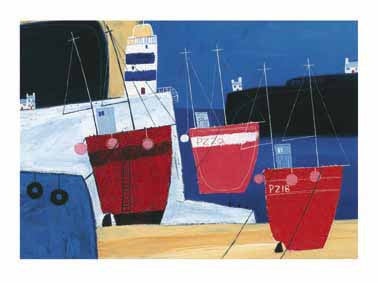 Three Red Boats Art Print Wallart Picture - Custom Framing, Art Prints, Framed Pictures, Ready Made Frames Artists Materials & more - Art Prints - art@home