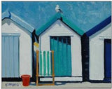 Beach Huts - Custom Framing, Art Prints, Framed Pictures, Ready Made Frames Artists Materials & more - Art Prints - Lin Pattullo