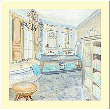 Salle De Bains I - Custom Framing, Art Prints, Framed Pictures, Ready Made Frames Artists Materials & more - Art Prints - art@home