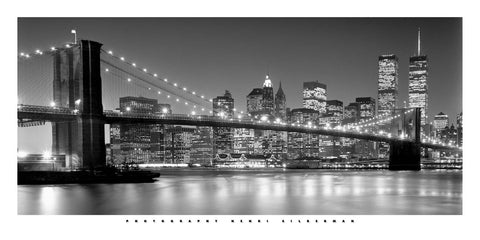 Brooklyn Bridge 50x100cm Art Print Wallart Picture - Custom Framing, Art Prints, Framed Pictures, Ready Made Frames Artists Materials & more - Art Prints - Kris Hardy