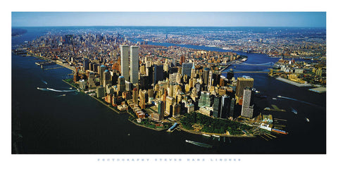 Ariel View Over Manhattan - Art Print