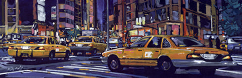 Yellow Cabs NYC 50x100cm Art Print Wallart Picture - Custom Framing, Art Prints, Framed Pictures, Ready Made Frames Artists Materials & more - Art Prints - art@home