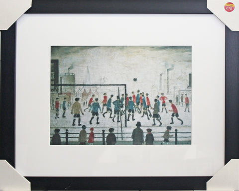 Framed Lowry, The Football Match, art print