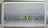 Framed Flanet, Sailing Boats