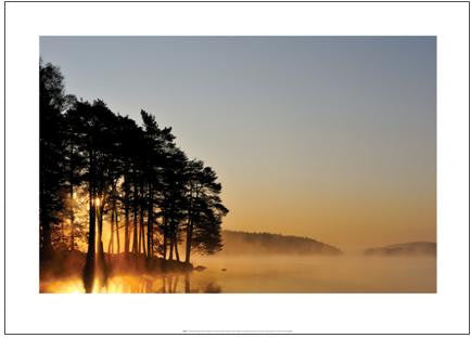Sunrise at Lake Delsjon, Sweden - Art Print