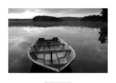 Row Boat at Lake Finnsson - Art Print