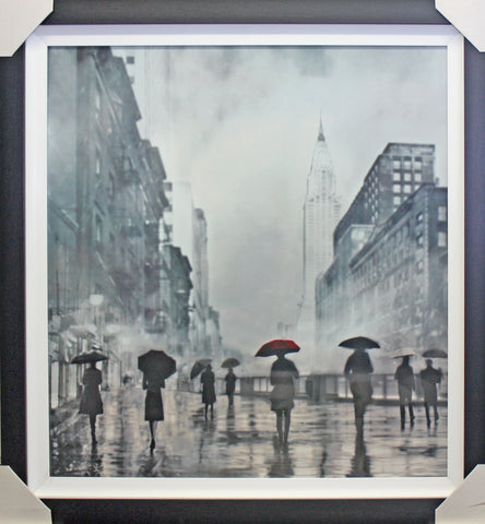 Framed New York Umbrellas Art Print