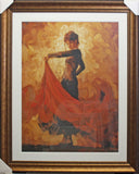 Framed Mark Spain, Flamenco I Art Print