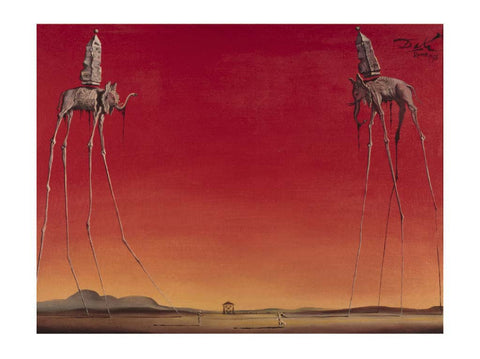 Salvador Dali - Elephants 60x80cm Art Print Wallart Picture - Custom Framing, Art Prints, Framed Pictures, Ready Made Frames Artists Materials & more - Art Prints - art@home