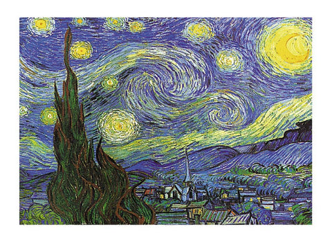 Vincent Van Gogh Nuit Etoilee a St. Remy 60x80cm Art Print Wall Art Picture - Custom Framing, Art Prints, Framed Pictures, Ready Made Frames Artists Materials & more - Art Prints - art@home