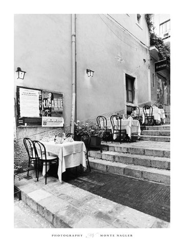 Tables on Step Taormina 60x80cm Art print Wallart Picture - Custom Framing, Art Prints, Framed Pictures, Ready Made Frames Artists Materials & more - Art Prints - art@home
